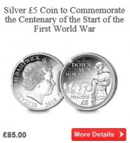 The First World War Centenary Silver £5 Coin