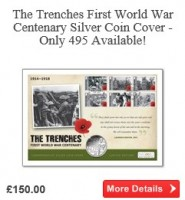 The Trenches First World War Centenary Silver Proof Coin Cover